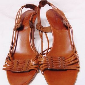 COLE HAAN Sling Back High Heel Sandals Italy Sz 10